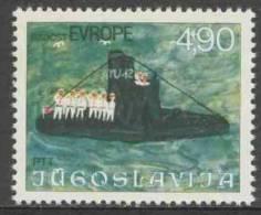 "Jugoslavija Yugoslavia 1976 Mi 1664 YT 1553 ** ""Navy Day"" (submarine) / Tag Der Marine, Drawing By Nikola Mitar - Duikboten"
