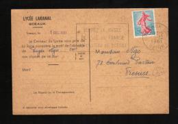 Lycée Lakanal Sceaux 1961, Motif Absence Et Règlement - Ecoles