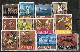 ZAMBIE/Oblitérés/Used/1968 - Série Courante / Sujets Divers (Série Complète) - Zambia (1965-...)