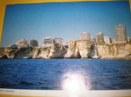 LIBAN - LEBANON Vieux Papiers De Calendrier Pour Le Liban Avant La Guerre Periode Avant T970  Place Ramlit El Bayda - Calendriers