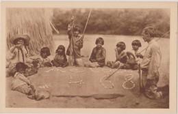 CPA,Brésil,Coroados,Parru Dos,humanitaire,la  Classe Sur Le Sable,avec Tribu Indigène Amazonienne,oeuvre Apostolique,rar - Brésil