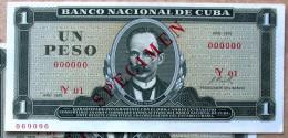 Exelente 1972, Un Peso SPECIMEN, UNC. Primros Años De Revolución. - Cuba