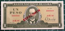 Exelente 1978, Un Peso SPECIMEN, UNC. Primros Años De Revolución. - Cuba