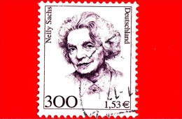GERMANIA - USATO - Rep. Federale - 1991 - Donne Celebri - Nelly Sachs (1891-1970), Scrittrice, Nobel - 300 - 1.53 - Gebraucht