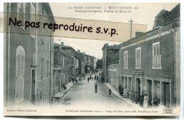 - 2 - MONTOISON - Drôme - Rue Principale, Poste Et Mairie, Rare, Animation,La Poste, TBE, Scans.. - Francia