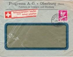 1932 LETTRE SUISE, PROGRESSA  OBERBURG Pour La   FRANCE /2590 - Schweiz