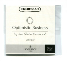 """Carte Parfumée Publicitaire """"Optimistic Business"""" By Jean-Charles Sommerard Crée Par Sevessence Paris - Salon Equipmag - Cartes Parfumées"""