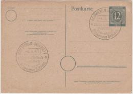 GERMANIA - GERMANY - Deutschland - ALLEMAGNE - Allied Occupation - Postkarte - Postal Card  - Entier Postal - 12 Pfen... - Zone Soviétique