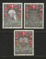 AUSTRIA, 1968, Cancelled Stamp(s), Arms, MI Nr. 1273-1275, #4073 - 1945-.... 2nd Republic
