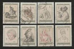 AUSTRIA, 1969, Cancelled Stamp(s), Bicentenary Albertina Art, MI Nr. 1307-1314, #4078, Complete - 1945-.... 2nd Republic