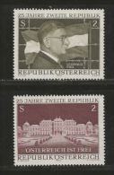 AUSTRIA, 1970, Cancelled Stamp(s), 25 Years Republic, MI Nr. 1322-1323, #4081, Complete - 1945-.... 2nd Republic