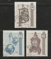 AUSTRIA, 1970, Cancelled Stamp(s), Antique Clock, MI Nr. 1328-1330, #4082, Complete - 1945-.... 2nd Republic