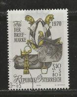 AUSTRIA, 1970, Cancelled Stamp(s), Saddle Harness Posthorn, MI Nr. 1350, #4087, - 1945-.... 2nd Republic