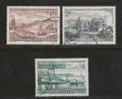 AUSTRIA, 1971, Cancelled Stamp(s), 25 Years Industry, MI Nr. 1373-1375, #4094, - 1945-.... 2nd Republic