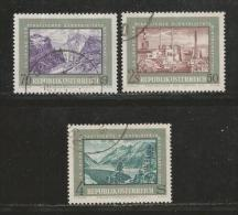 AUSTRIA, 1972, Cancelled Stamp(s), 25 Years Electric Power, MI Nr. 1389-1391 #4097,   Complete - 1945-.... 2nd Republic
