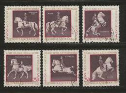 AUSTRIA, 1972, Cancelled Stamp(s), Spanish Horse Riding School, MI Nr. 1395-1400 #4098,   Complete - 1945-.... 2nd Republic
