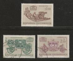 AUSTRIA, 1972, Cancelled Stamp(s), Austrian Art Treasures, MI Nr. 1406-1408 #4100, - 1971-80 Covers