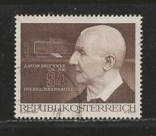 AUSTRIA, 1974, Cancelled Stamp(s), Anton Brueckner, MI Nr. 1443 #4107, - 1945-.... 2nd Republic