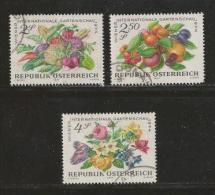 AUSTRIA, 1974, Cancelled Stamp(s), Garden Show, MI Nr. 1444-1446 #4108, - 1945-.... 2nd Republic