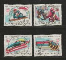 AUSTRIA, 1975, Cancelled Stamp(s), Olympic Games Innsbruck, MI Nr. 1479-1482, #4114, - 1945-.... 2nd Republic