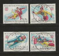 AUSTRIA, 1975, Cancelled Stamp(s), Olympic Games Innsbruck, MI Nr. 1499-1502, #4116, - 1945-.... 2nd Republic