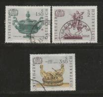 AUSTRIA, 1971, Cancelled Stamp(s), Austrian Art, MI Nr. 1355-1357, #4089,  Complete - 1945-.... 2nd Republic