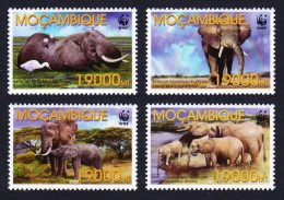 Mozambique WWF Savannah Elephant 4v SG#1641/44 MI#2393-96 SC#1587 a-d