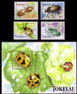 Tokelau Beetles 4v+MS SG#278/82 SC#255-59