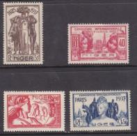Niger: 1937 Paris International Exhibition40c To 1f50, MH * - Niger (1921-1944)