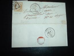 LETTRE (PLI) TP CERES 15C OBL. GC 99 + 7 MAI 75 ANGERS (47) (49 MAINE ET LOIRE) - 1849-1876: Periodo Classico