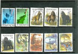 1986 Y & T N° 2211 2212 2213 2214 2215 2216 2225 2226 2227 2228  ( O ) 10 Oblitérés Différents - Belgium