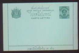 SIAM THAILAND 1902 LETTER POSTAL CARD 12ATTS MINT - Thailand