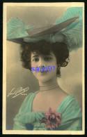 Jolie Femme Avec Chapeau - Artiste Spinder - Photographe Paul Boyer -  Réf:31997 - Femmes
