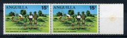 ANGUILLA   1970   40th  Anniv  Of  Scouting  In  Anguilla  15c  Scout  Camp  Pair     MH - Anguilla (1968-...)