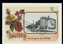 10   PAYNS ... ....  Gare. Souvenir Au Fusain Creation Moderne Série  Numerotée 1 à 10 ... N° 2/10 - Altri Comuni