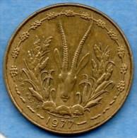 WEST AFRICAN STATES / AFRIQUE OUEST  5 FRANCS 1977 - Monnaies
