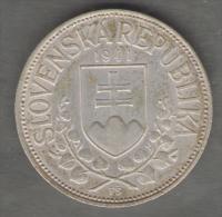 SLOVACCHIA 20 KORUN 1941 - St. Kyrill And St. Methodius - AG SILVER - Slovaquie