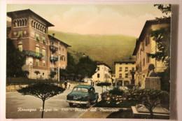 RONCEGNO BAGNI  (TN) - PIAZZA DEL MUNICIPIO- F/G - V: 1958 - AUTO - Trento
