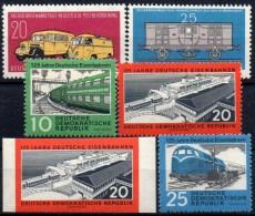 Bahnpost 1960 DDR 789/0,804/6+805B ** 18€ Imperf.Eisenbahn-Fähre Saßnitz Waggon Zug Diesel-Lok Auto Train Set Of Germany - Verkehr & Transport