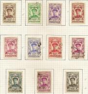INDO-CHINA 1936 1c - 2p Annam SG 219-229 M+U #QH19 - Oblitérés