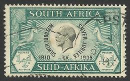 South Africa, 1/2 P. 1935, Sc # 68a, Used - Afrique Du Sud (...-1961)