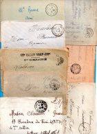 Lot De 36 Oblitérations Militaires 1914 / 18 - Marcophilie (Lettres)