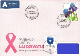 Latvia Lettland Lettonie 2013 Breast Cancer Campaign - I Am Going (addressed Cover) - Latvia