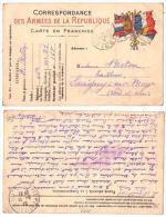 (FM) 019, Savigny Sur Braye, Correspondance Des Armées, Secteur Postale 168, 1916, 45° - France