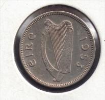 EIRE IRELAND 3 PENCE 1953 ANIMAL LAPIN - Ireland