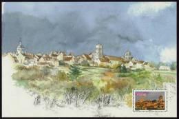 """Feuillet Provenant Du Carnet De Voyage De 2008 """"La France à Voir"""" Avec Timbre """"Vézelay"""" Neuf - Mint/Hinged"""