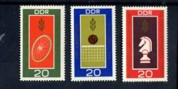 DDR POSTFRIS MINT NEVER HINGED POSTFRISCH EINWANDFREI  YVERT  1187 1188 1189