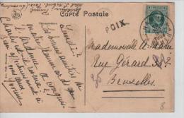 TP Houyoux 194 S/CP C.Namur En 1924 + Griffe Poix V.Bruxelles PR1110 - Postmark Collection