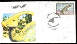 Romania, Cover, Prehistoric Animals, Dinosaurs, Parasaurolophus - Préhistoriques