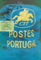 CARTE MAXIMUM - MAXICARD - MAXIMUMKARTE - MAXIMUM CARD - PORTUGAL - MARCOPHILIE - Symbole De Post En Sac De Courrier - Post